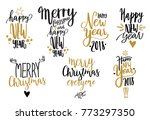 happy new year. hand written... | Shutterstock .eps vector #773297350