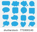 blank empty blue speech bubbles | Shutterstock .eps vector #773300140