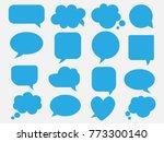 blank empty blue speech bubbles | Shutterstock .eps vector #773300140