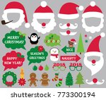santa hats and christmas vector ... | Shutterstock .eps vector #773300194