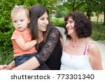 generation of woman with... | Shutterstock . vector #773301340