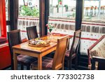few choices of appetizers on... | Shutterstock . vector #773302738