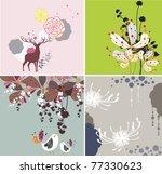 natural textures with birds   Shutterstock .eps vector #77330623
