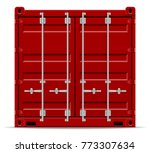cargo container for the... | Shutterstock . vector #773307634