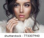 fashion studio portrait of... | Shutterstock . vector #773307940