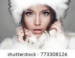 fashion studio portrait of... | Shutterstock . vector #773308126