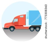 huge modern truck red spacious... | Shutterstock .eps vector #773308360