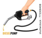 diesel pump promotional poster... | Shutterstock .eps vector #773308408