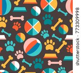 seamless patern with puppy's...   Shutterstock . vector #773309998