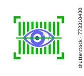 vector biometric identification ...   Shutterstock .eps vector #773310430