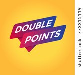 double points tag sign. | Shutterstock .eps vector #773315119