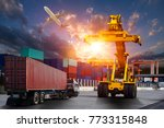 logistics and transportation of ...   Shutterstock . vector #773315848