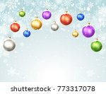 happy holidays greeting card... | Shutterstock .eps vector #773317078