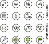 line vector icon set   ruble...