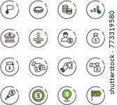 line vector icon set   ruble...