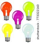 light bulbs of the... | Shutterstock .eps vector #773322160