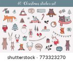 colorful christmas and winter... | Shutterstock .eps vector #773323270