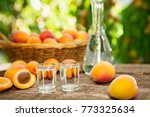 apricot brandy drink in shot... | Shutterstock . vector #773325634