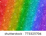 rainbow glitter background | Shutterstock . vector #773325706
