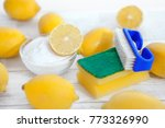 eco friendly cleaner  lemon and ... | Shutterstock . vector #773326990