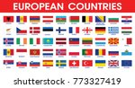 european countries flag set... | Shutterstock .eps vector #773327419