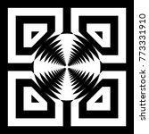 abstract tile with black white...   Shutterstock .eps vector #773331910