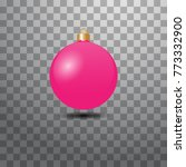 christmas ball  toys on... | Shutterstock .eps vector #773332900