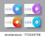 vector white gift card template ... | Shutterstock .eps vector #773333758
