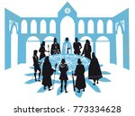 king arthur and the knights of... | Shutterstock .eps vector #773334628