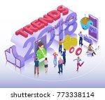 trends in social media 2018.... | Shutterstock .eps vector #773338114