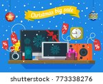christmas and new year's sale.... | Shutterstock .eps vector #773338276