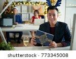 happy vietnamese businessman