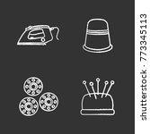 tailoring chalk icons set.... | Shutterstock .eps vector #773345113