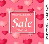 valentine's day sale background ... | Shutterstock . vector #773345626