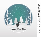 merry christmas and happy new... | Shutterstock .eps vector #773349538
