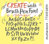 hand drawn brush pen... | Shutterstock .eps vector #773351854