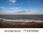 coastline landscape with... | Shutterstock . vector #773353084