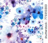 hand painted artistic... | Shutterstock . vector #773353303