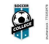 soccer college logo.   Shutterstock . vector #773353978