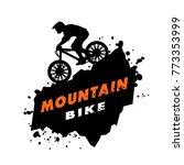 Mountain Bike Trials. Emblem I...