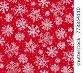 snowflakes decorative seamless...   Shutterstock .eps vector #773354110