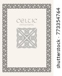 celtic knot braided frame... | Shutterstock .eps vector #773354764