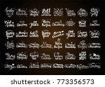 christmas   new year vector... | Shutterstock .eps vector #773356573