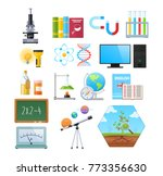 set of objects of natural... | Shutterstock .eps vector #773356630