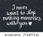 vector love quote lettering ... | Shutterstock .eps vector #773357110