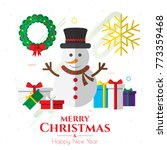 christmas icons  ornaments and... | Shutterstock .eps vector #773359468