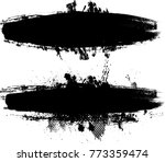grunge paint stripe . vector... | Shutterstock .eps vector #773359474