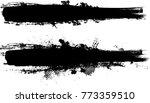 grunge paint stripe . vector... | Shutterstock .eps vector #773359510