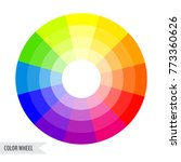 bright color wheel chart... | Shutterstock .eps vector #773360626
