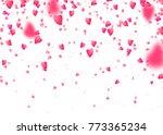 heart confetti background.... | Shutterstock .eps vector #773365234